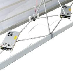 L Shape Lumière Light Wall® Configuration G - BACKLIT (Graphic Package)