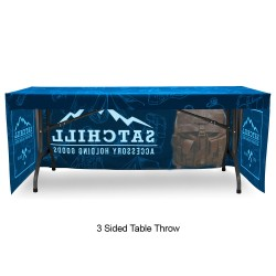 Fitted 6ft Table Throw Full Color Printing