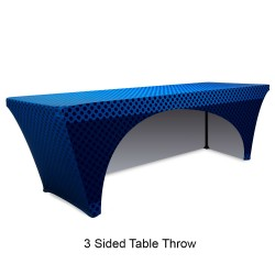 Stretch 8ft Table Throw Full Color Printing