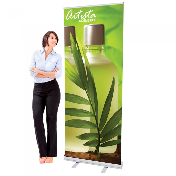 33.5 x 80 Economy Retractable Banner Stand & Graphic Print