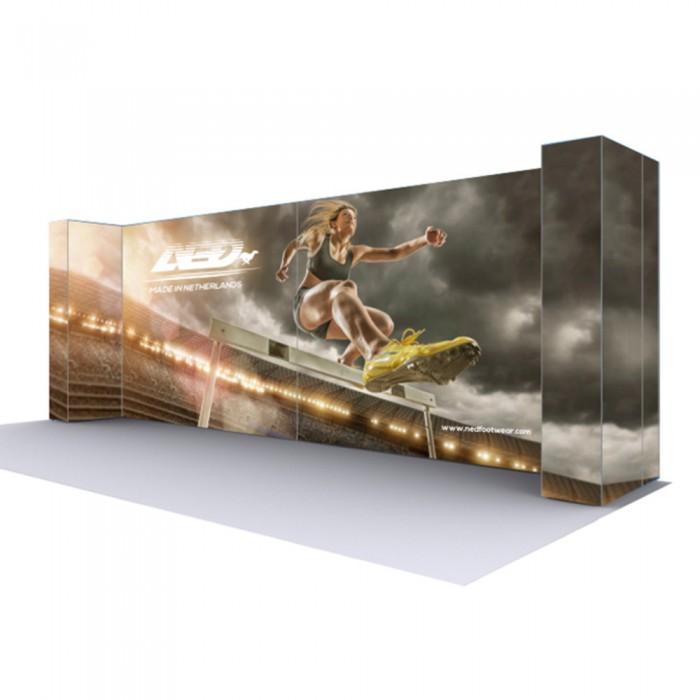 U Shape Lumière Light Wall® Configuration H - BACKLIT (Graphic Package)