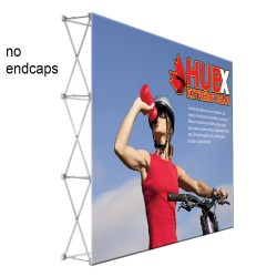 "10 ft. RPL Fabric Pop Up Display - 89""h Straight Graphic Package"