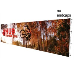 "30 ft. RPL Fabric Pop Up Display - 89""h Straight Graphic Package"