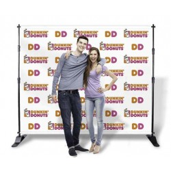 STEP AND REPEAT BANNER STAND | PRINT AND STAND PACKAGE