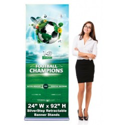 SilverStep 24x92 Retractable Banner Stand